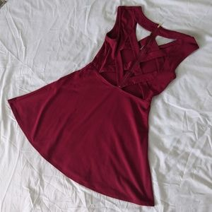 Charlotte Russe Wine Red Dress